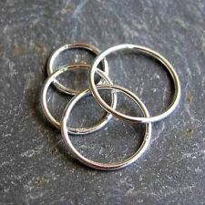 Sterling silver 12mm closed ring