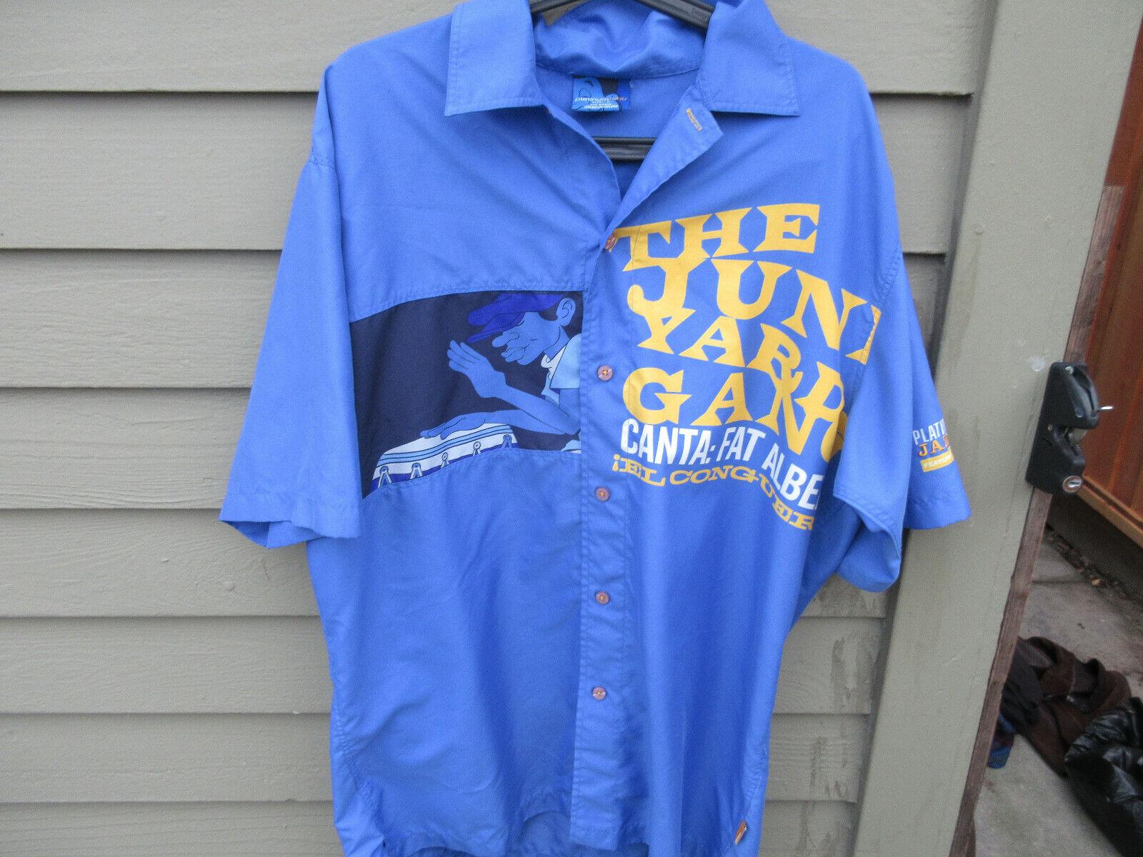 Fubu Platinum (Fat Albert) Junkyard Gang bluee Shirt Mens Size Large Jazz Series