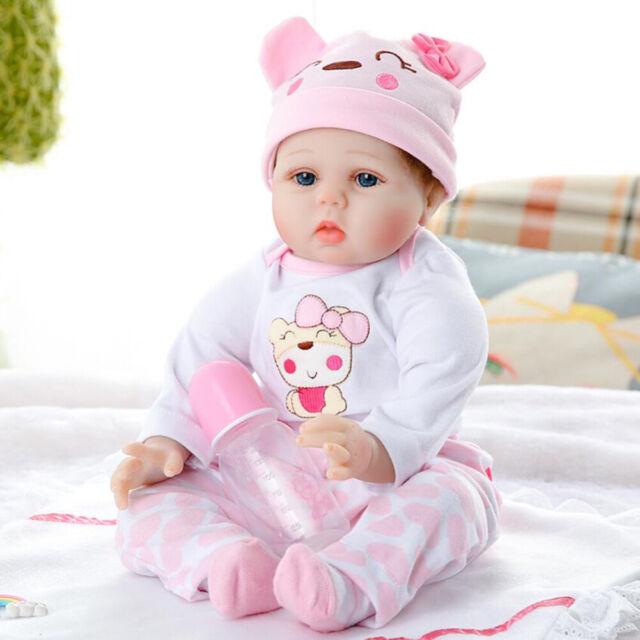 Lifelike Baby Doll Handmade Silicone Vinyl Reborn Newborn Dolls Toy Xmas Gift MU