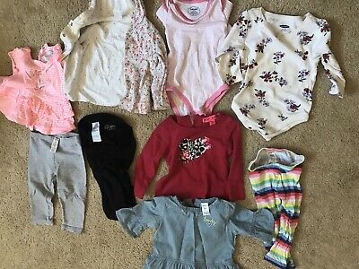 Baby Girls 9pc Mixed Clothes Lot Size 6 9 12 Months Shirts Pants Outfits Ebay