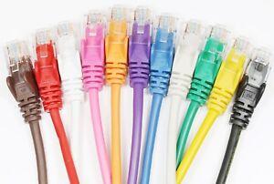 Network-Cable-HQ-RJ45-CAT5e-Ethernet-Patch-Lead-Snagless-12cm-1m-2m-10m-50m-LOT