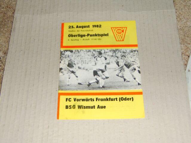 Prg 82/83 FC Vorwärts Frankfurt - BSG Wismut Aue