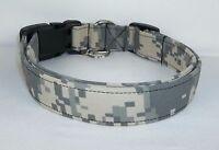 Authentic Army Digital Camo Military Fabric Dog Collar Custom Made Adjustable
