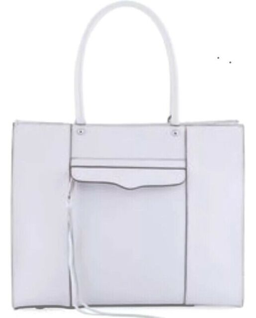 Rebecca Minkoff Medium Mab Tote Lilac Leather Handbag Satchel Nwt 265