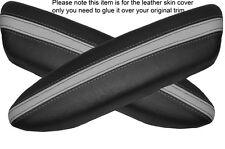 BLACK & GREY 2x PANTHERS PORTA BRACCIOLO IN Pelle Cover Adatta per BMW Mini Cooper 04-06