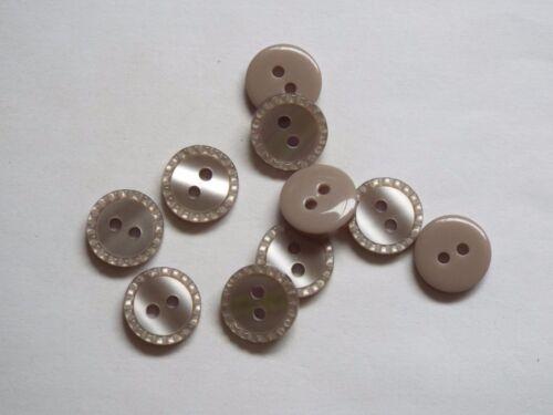 10pc 12mm Minky Grey Baby Children Shirt Cardigan Knitwear Button 1254