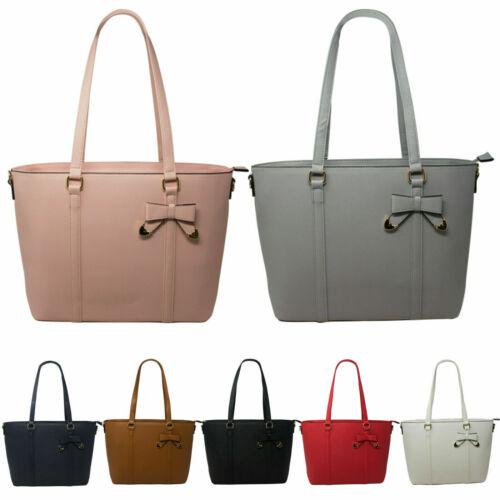 Ladies Bow Shopper Bag Women/'s Messenger Shoulder Wedding Party Handbag UK