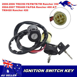 ignition key switch fits honda trx350fe rancher 4x4 2000. Black Bedroom Furniture Sets. Home Design Ideas