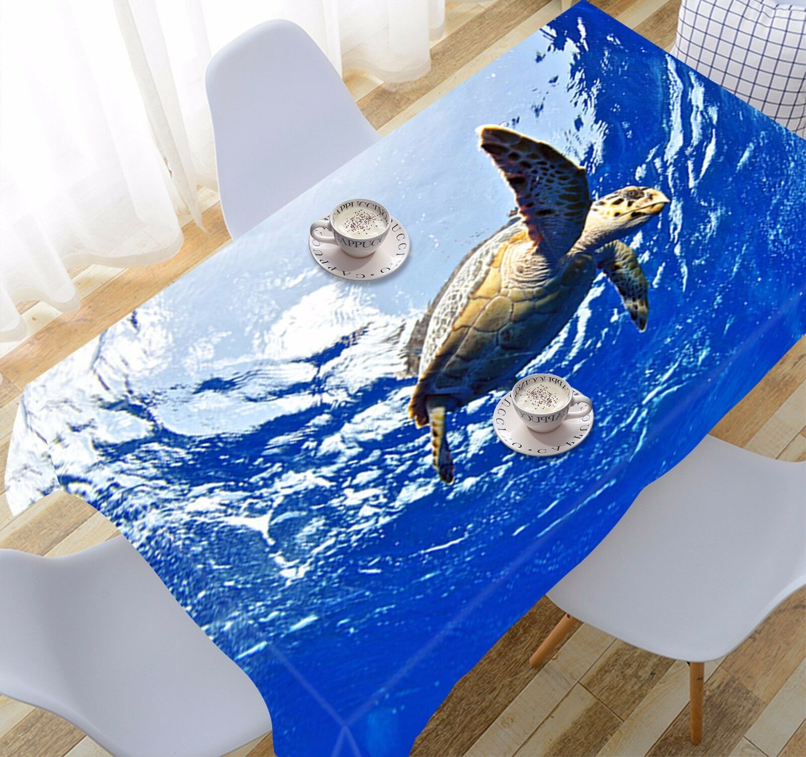 3D Sea Turtle 283 Tablecloth Table Cover Cloth Birthday Party Event AJ WALLPAPER