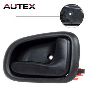 1Pc Door Handle for 93-97 Corolla Prizm Black Exterior Rear Left Side