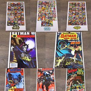 Comic Collage Print Poster 11x17 - Dr. Who, Star Wars, Dracula, Batman and Robin