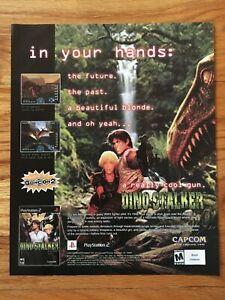 Dino-Stalker-Playstation-2-PS2-Capcom-2002-Video-Game-Poster-Ad-Art-Print-Rare