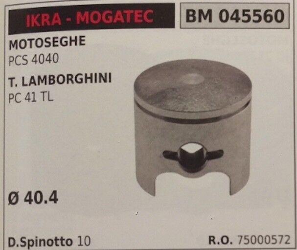 75000572 PISTONE COMPLETO DI SEGMENTI SPIN MOTOSEGA IKRA MOGATEC PCS 4040 Ø40.4