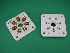 2 x GOLD Septarfassung -> 6C33C 6C41C GU29  Röhrenfassung neu - Röhrenverstärker