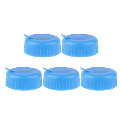 5Pcs 55mm Gallon Water Bottle Screw Seal Non-spill Cap Anti Splash Lids Reusable
