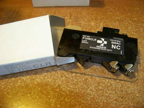 Nos GOULD TELEMECANIQUE F10NCR  AUXILIARY INTERLOCK