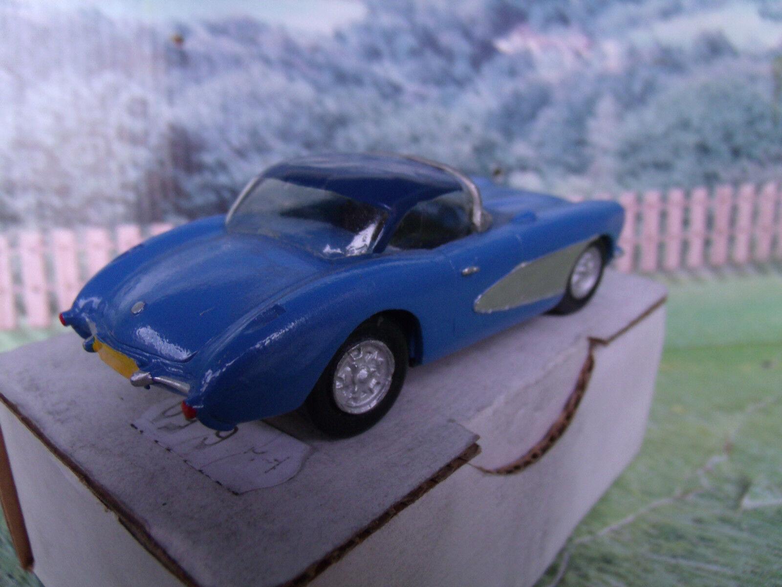 1 43 Fabricante Desconocido Chevrolet Chevrolet Chevrolet Corvette 1956 Metal blancoo coche modelo e8b37d