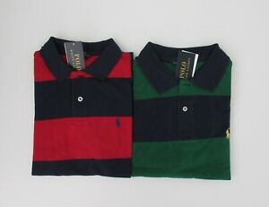 NWT-Ralph-Lauren-Boys-Short-Sleeve-Bold-Stripe-Mesh-Polo-Shirt-Sz-5-6-NEW-35