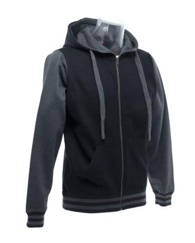 Unisex sweat-Adult College Baseball Zipped Top XS to 2XL FDM Active Zip Hoodie