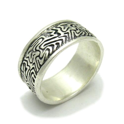 R000454 anillo de plata esterlina sólida 925 10 mm de ancho de banda Emperatriz