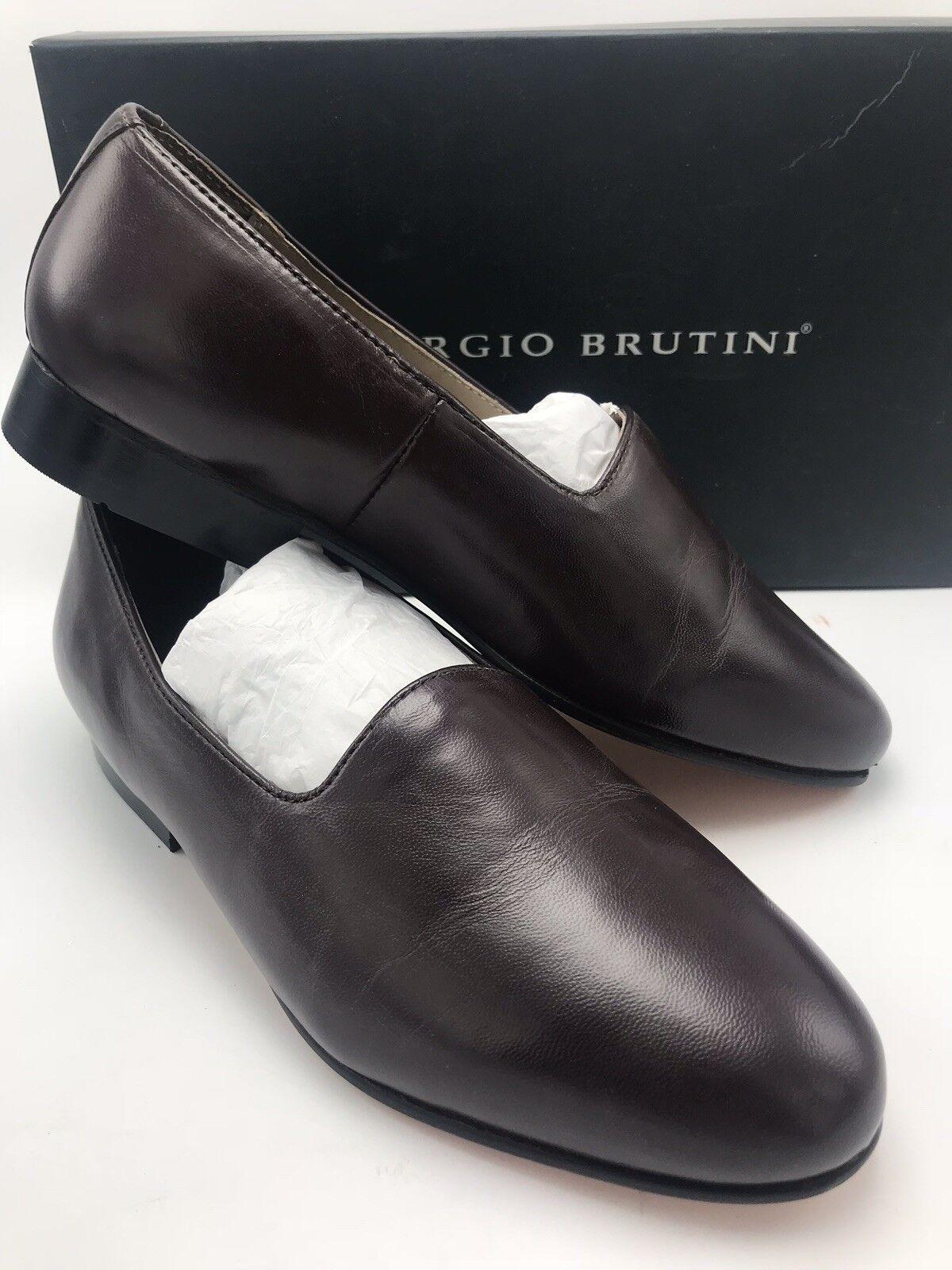 Giorgio Brutini Men's Slip On Loafer Crawley 244377 Wine Size 8.5 M