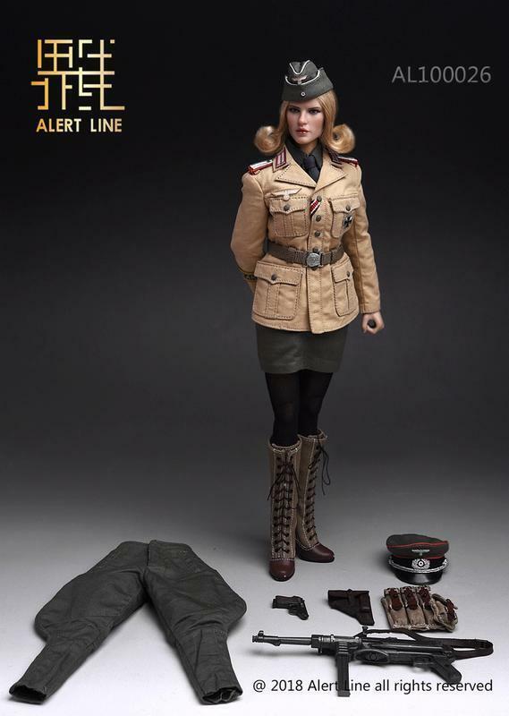 Afrika Korps Hembra oficial figura 1 6 figura de línea alerta AL100026 En Caja