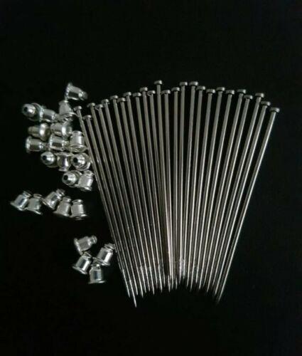"""25 x 2/"""" Blank Pins Hijab Pins Pin Findings Hat Pin Label Pin"""