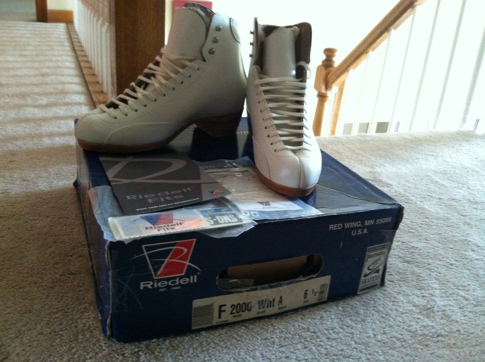 NEW  Riedell F2000 Ice Figure Skating Boot Size Adult Women's 6.5 6 1 2  lowest whole network