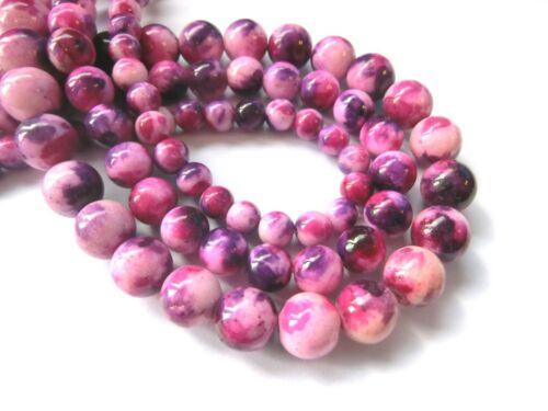 Jade berry brombeer violett rosa 8mm Kugeln rund 1 Strang