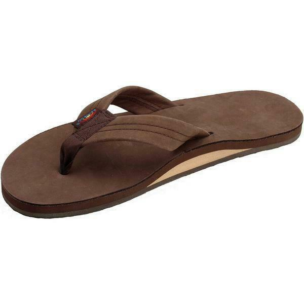 Rainbow Mens Single Layer Sandals Premier Leather Expresso Size XXXL (13.5-15)