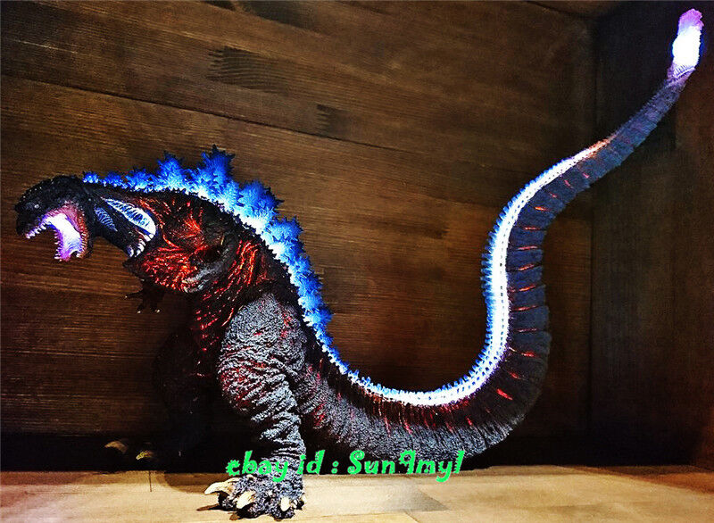 Unpainted Godzilla Resin Statue Lighting Transparent GK Unassembled 12''L