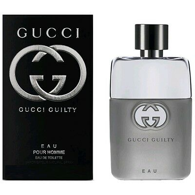 Gucci Guilty Eau Cologne by Gucci, 3 oz EDT Spray for Men NEW