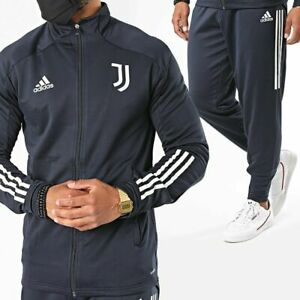 Dettagli su Adidas FR4282 Juventus Tuta Ufficiale Allenamento Originale Blu Uomo Calcio