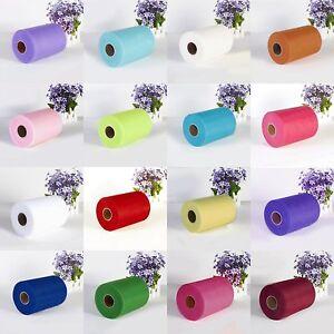 6-034-x25Y-100Y-Tulle-Roll-Spool-Tutu-Wedding-Gifts-Craft-Party-Decoration-Fabric