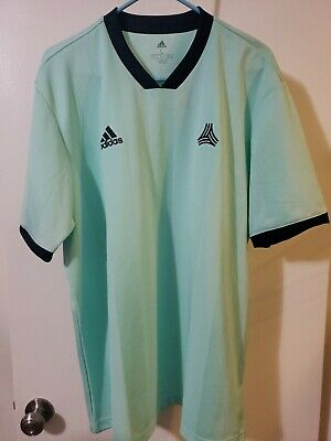 Mens Sz L Adidas DP2703 Tango Icon Player Blue Jersey Soccer Football Top 191965965166   eBay