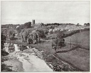 Larbert nr Falkirk E Stirlingshire 1907 RARE  ready mounted photo view SUPERB - Barnsley, United Kingdom - Larbert nr Falkirk E Stirlingshire 1907 RARE  ready mounted photo view SUPERB - Barnsley, United Kingdom