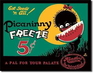 Vintage Replica Tin Metal Sign Drink Picaninny Freeze Hendler Ice Cream nicle 43