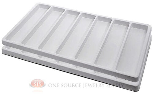 5 White Insert Tray Liners W// 20 Compartments Drawer Organizer Jewelry Displays