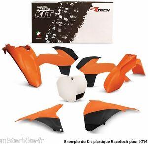 Kit-plastiques-Coque-Racetech-KTM-SX-125-250-2005-2006-Couleur-Orange