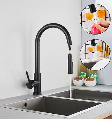 Mono Kitchen Sink Mixer Tap Pull Out Hose Spray Single Lever Single Hole Faucet