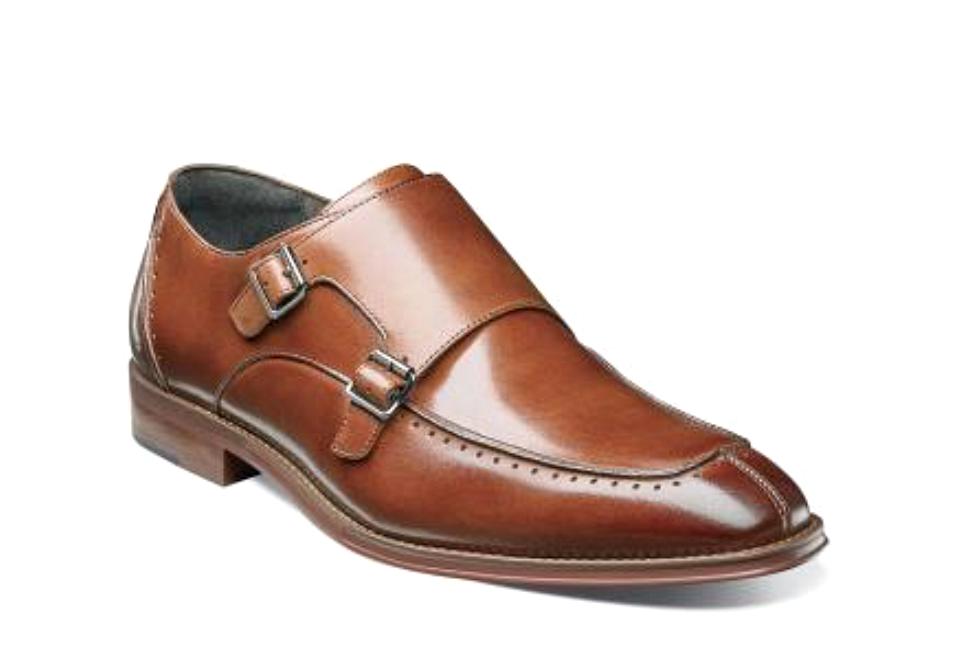 la migliore offerta del negozio online Stacy Adams Adams Adams Uomo Baldwin Double Monk Strap Cognac Leather Dress scarpe 25188  economico e di alta qualità