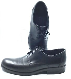 ECCO Harold Oxford Men's EUR 46 US 12-12.5 Black Leather Plain Toe Lace Up Shoes