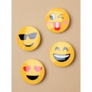 4-5CM-EMOJI-HAIR-CLIPS-HEARTS-SMILEY-SUNGLASSES-WINK-LAUGHING-choice