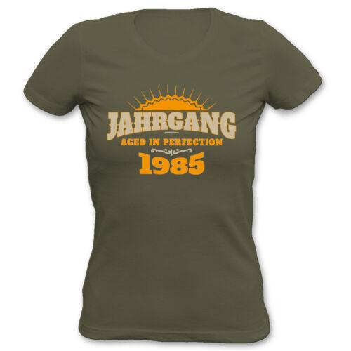 Frauen Geburtstag 34 Jahre Jahrgang 1985 T-Shirt zum 34.Geburtstag für Damen