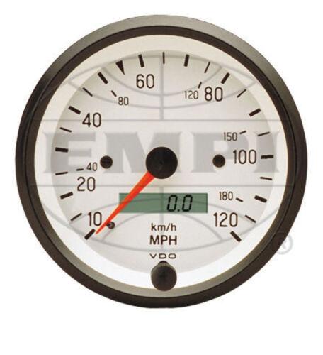 VDO WHITE COCKPIT SPEEDOMETER 3-3//8  437202 120 MPH VW BUG AIR COOLED