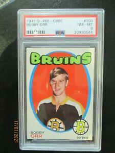 1971-72 O-Pee-Chee #100 Bobby Orr PSA 8 NMMT Centered Boston Bruins 71/72 OPC