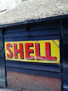 Shell Enamel Sign shell porcelain sign shell garage enamel sign shell petrol oil