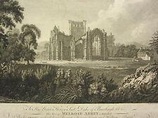 1779 datato antico stampa ~ Melrose Abbey ~ Thomas Hearne WILLIAM BYRNE