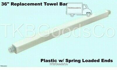 """36"""" REPLACEMENT TOWEL BAR Cut to Fit Plastic Spring Loaded ..."""