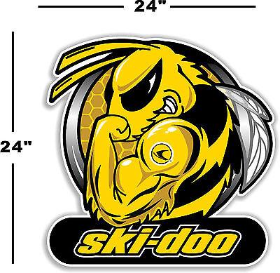 """(SKI-2) 24"""" SKI-DOO SKIDOO BEE DECAL FOR WINDOW / WALL ARTIC CAT MXZ POLARIS X"""